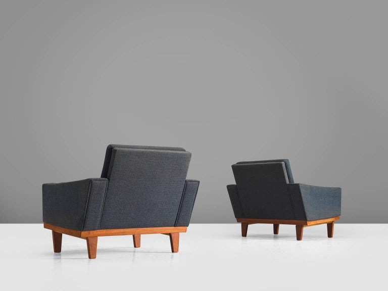 Mid-20th Century Danish Armchairs with Teak Frame For Sale