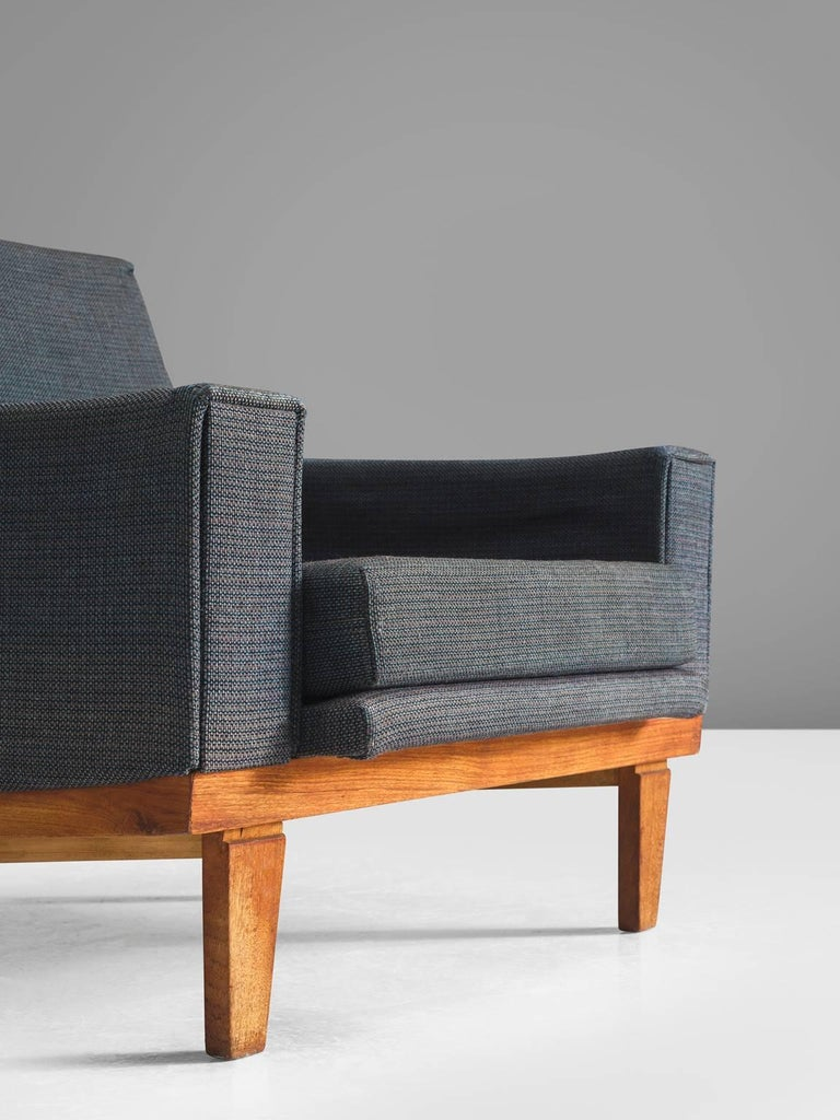 Danish Armchairs with Teak Frame For Sale 1