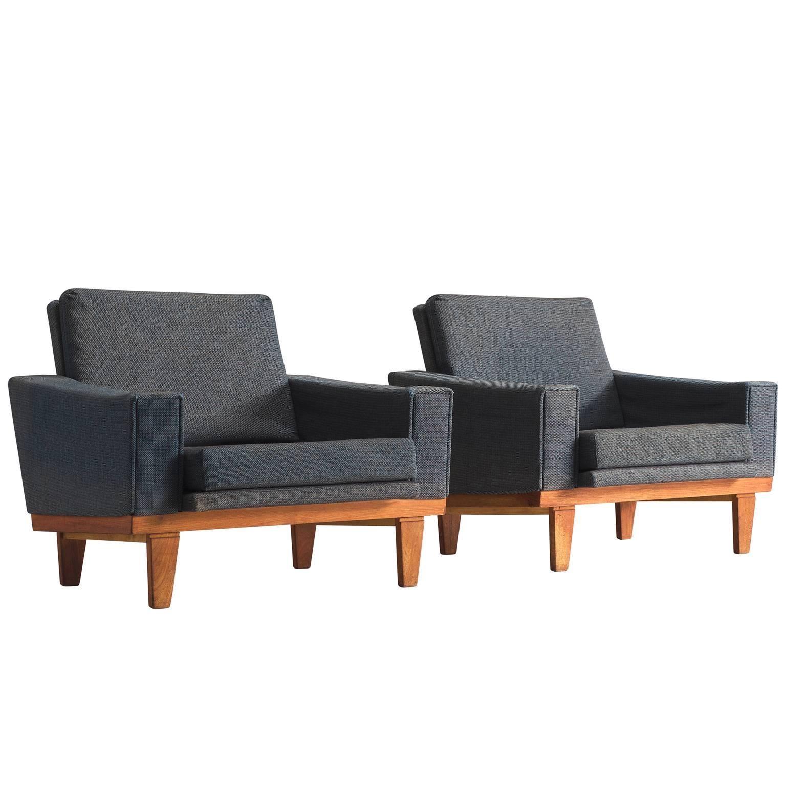 Danish Armchairs with Teak Frame
