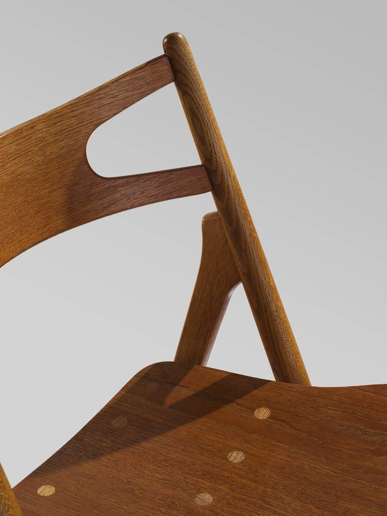 Hans J. Wegner Restored Set of Eight Matching Sawbuck Chairs For Sale 1