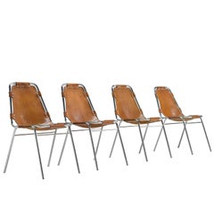 Set of Four Les Arcs Chairs Selected by Charlotte Perriand
