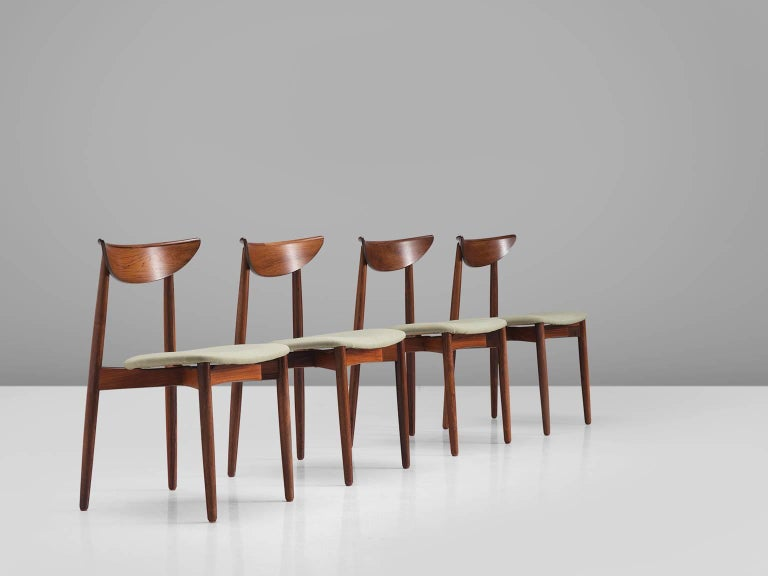 Danish Harry Østergaard Rosewood Dining Chairs For Sale