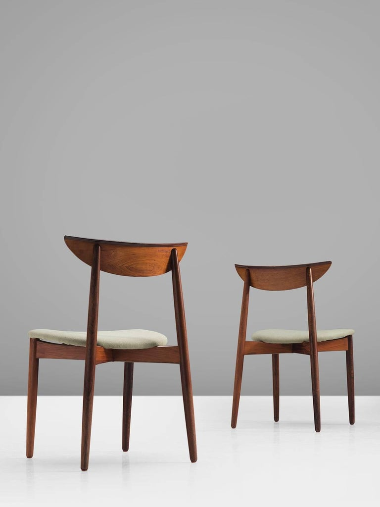 Mid-20th Century Harry Østergaard Rosewood Dining Chairs For Sale