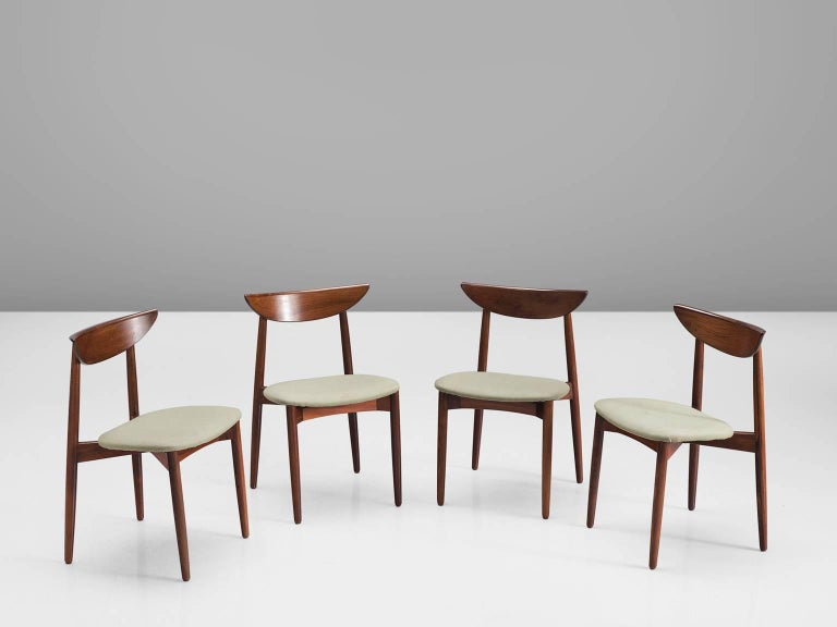Harry Østergaard Rosewood Dining Chairs In Good Condition For Sale In Waalwijk, NL