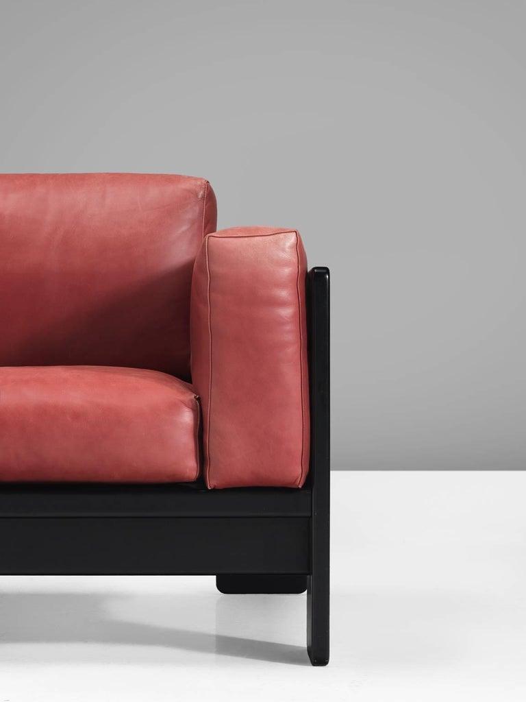 Tobia Scarpa for Knoll 'Bastiano' Leather Four-Seat Sofa For Sale 1
