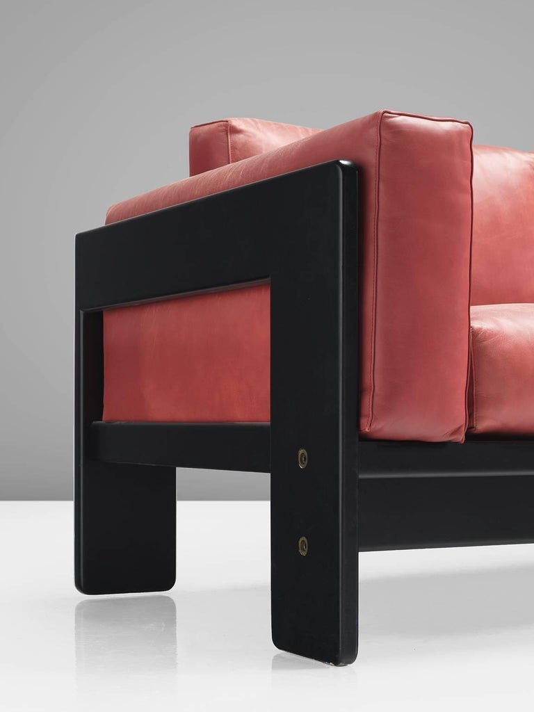 Tobia Scarpa for Knoll 'Bastiano' Leather Four-Seat Sofa For Sale 2
