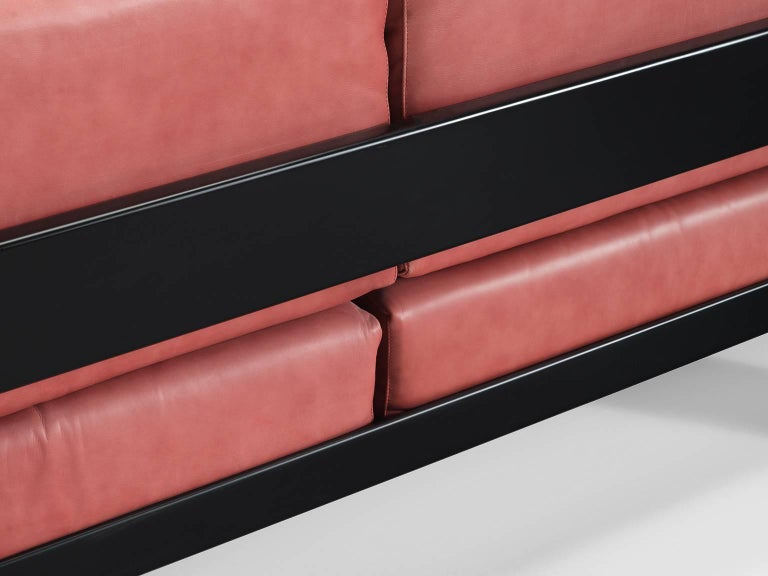 Tobia Scarpa for Knoll 'Bastiano' Leather Four-Seat Sofa For Sale 3
