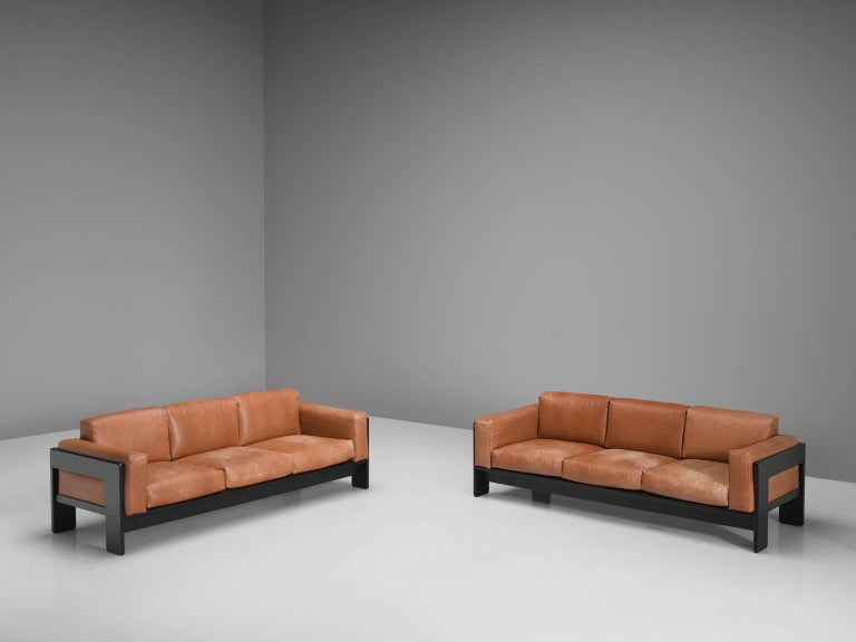 Pair of 'Bastiano' Sofas by Tobia Scarpa for Knoll In Good Condition In Waalwijk, NL