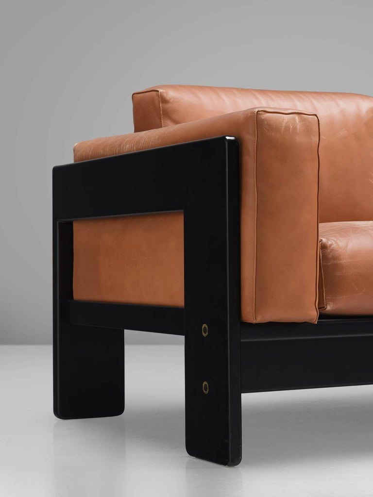 Leather Pair of 'Bastiano' Sofas by Tobia Scarpa for Knoll