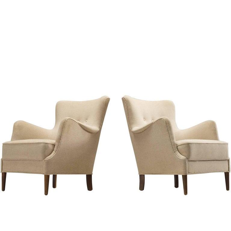 Danish Cabinetmaker Pair of Easy Chairs