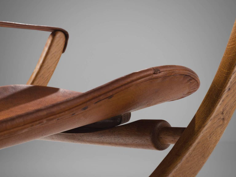 Poul Hundevad 'Egyptian' Chair in Cognac Leather 7