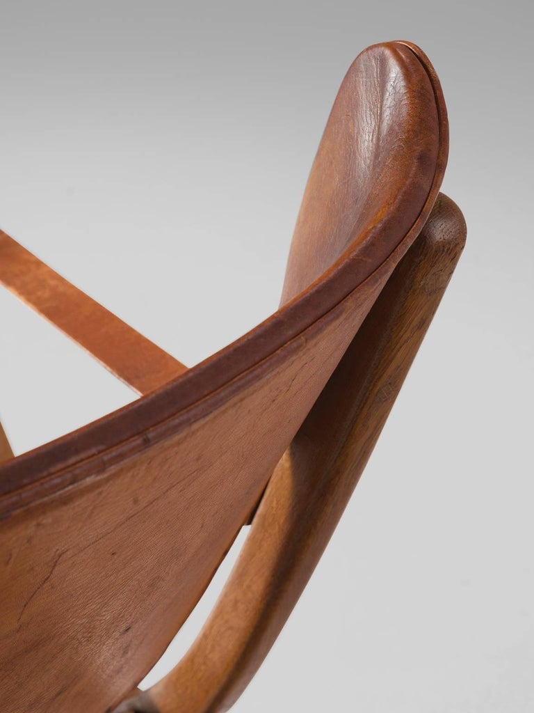 Poul Hundevad 'Egyptian' Chair in Cognac Leather 9