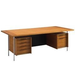 Sven Ivar Dysthe Desk in Walnut and Leather