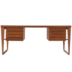 Kai Kristiansen Elegant Executive Desk in Teak