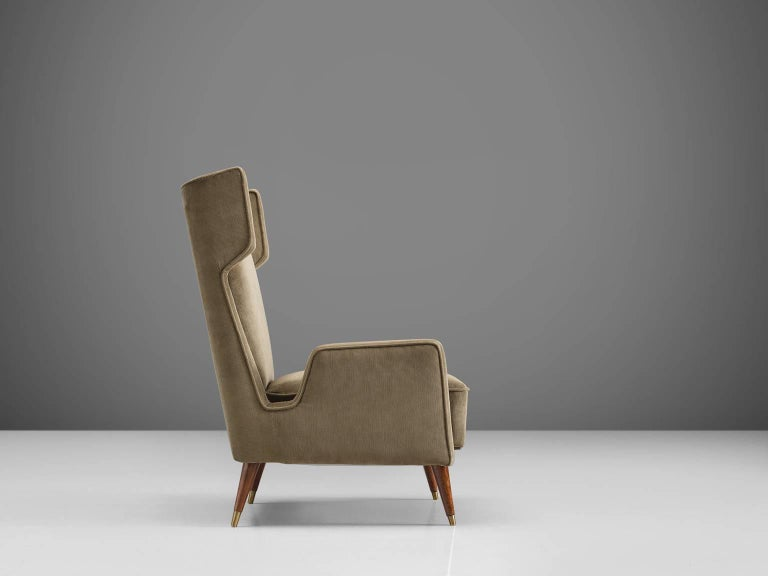 Mid-20th Century Giuseppi Scapinelli Brazilian Caviuna Highback Chair  For Sale