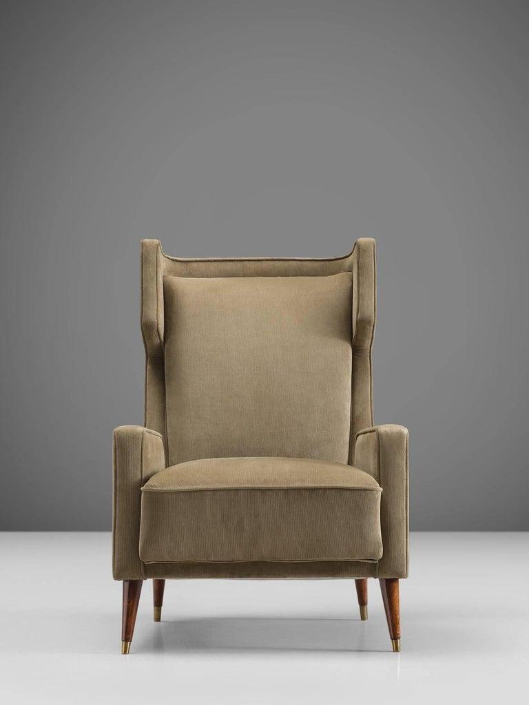 Mid-Century Modern Giuseppi Scapinelli Brazilian Caviuna Highback Chair  For Sale