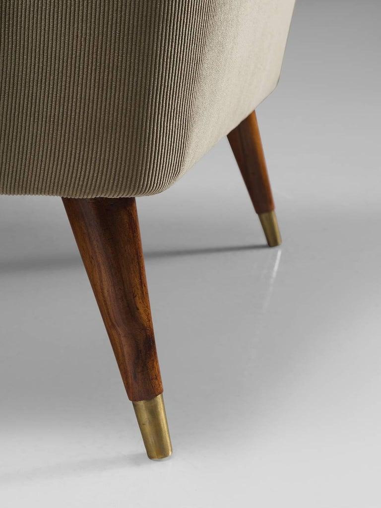 Giuseppi Scapinelli Brazilian Caviuna Highback Chair  For Sale 2
