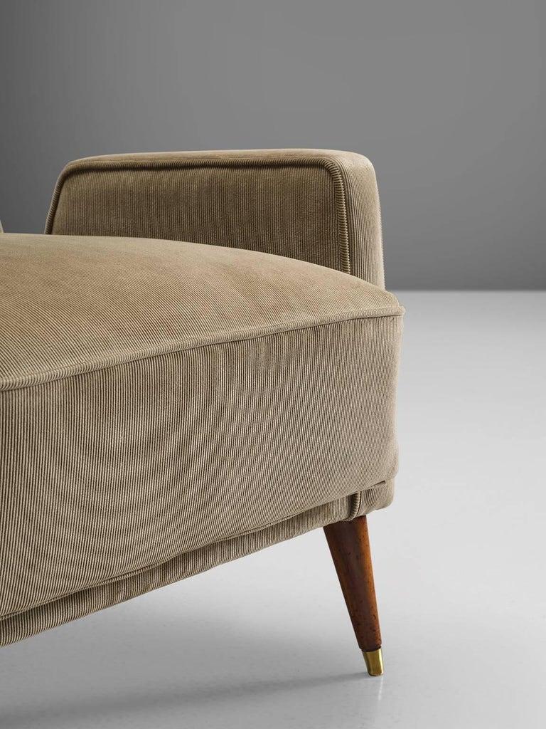 Brass Giuseppi Scapinelli Brazilian Caviuna Highback Chair  For Sale