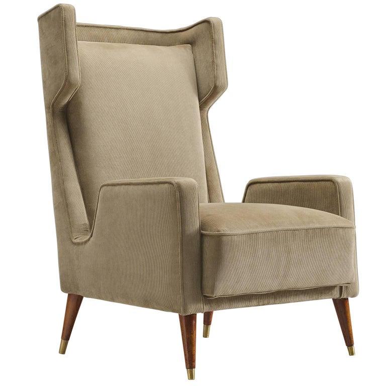 Giuseppi Scapinelli Brazilian Caviuna Highback Chair