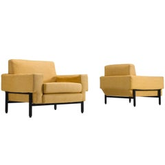 Set of Two Italian Armchairs for Saporiti