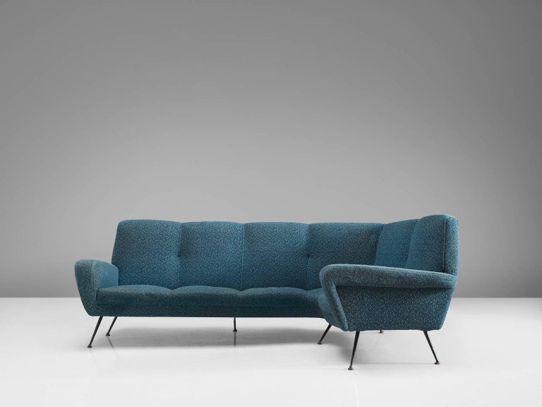 Mid Century Modern Italian Corner Sofa By Isa 1950s For