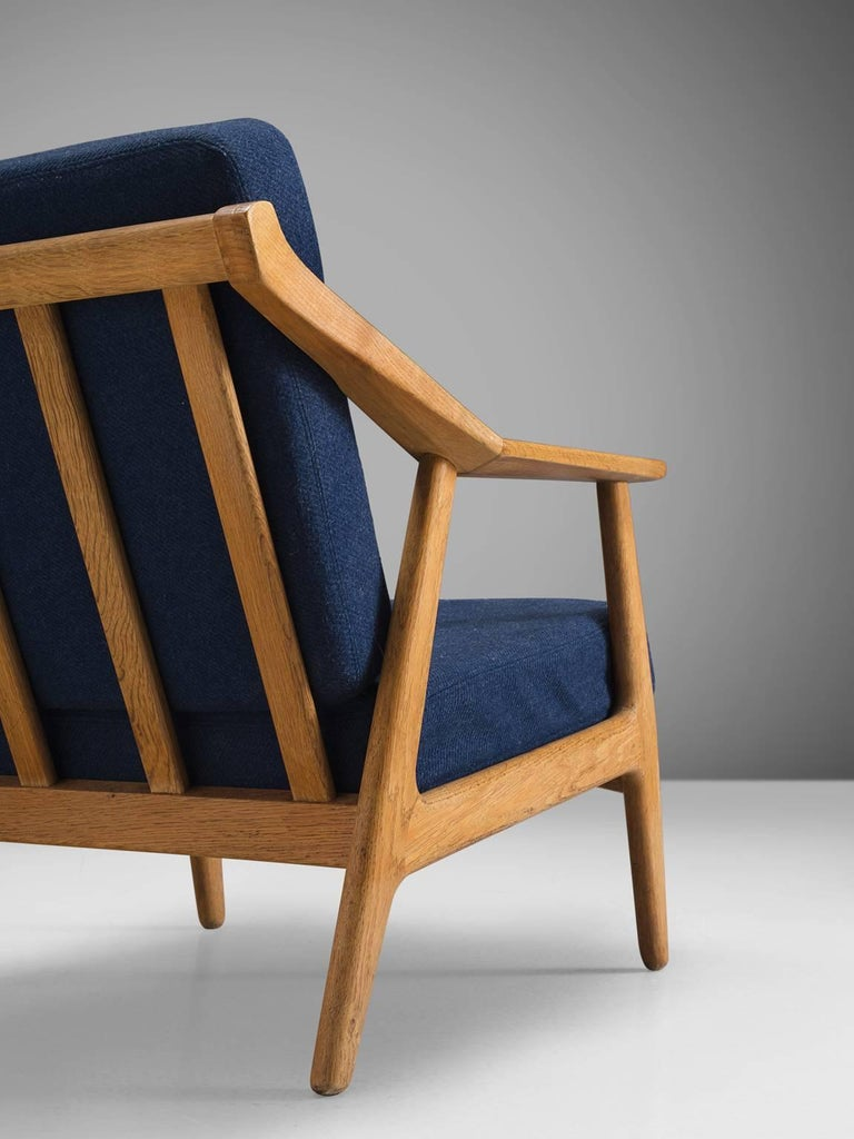 Mid-20th Century Solid Oak Danish Midcentury Armchairs For Sale