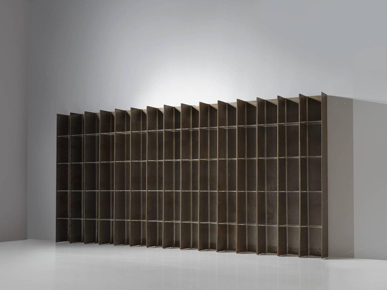 Post-Modern Carla Venosta and Guido Zimmerman Shelving Unit For Sale