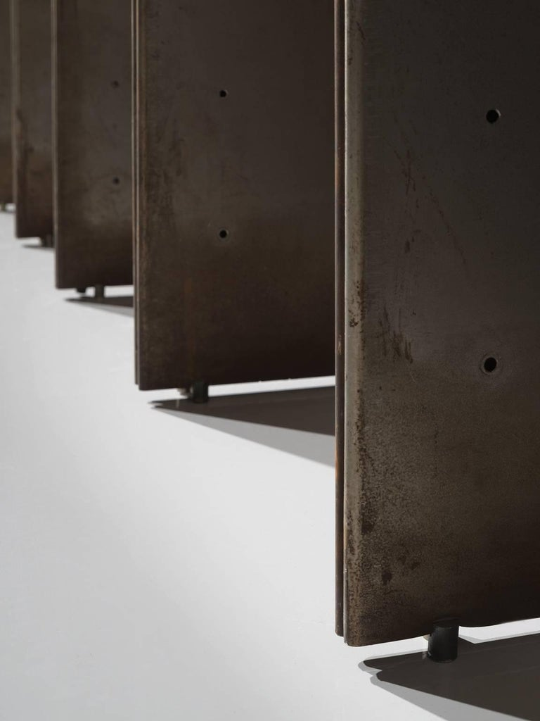 Steel Carla Venosta and Guido Zimmerman Shelving Unit For Sale