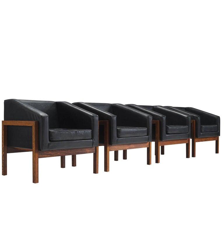Unique Set Of Four Dutch Armchairs By Wim Den Boon For