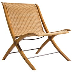 Hvidt and Nielsen for Fritz Hansen X-Chair in Cane