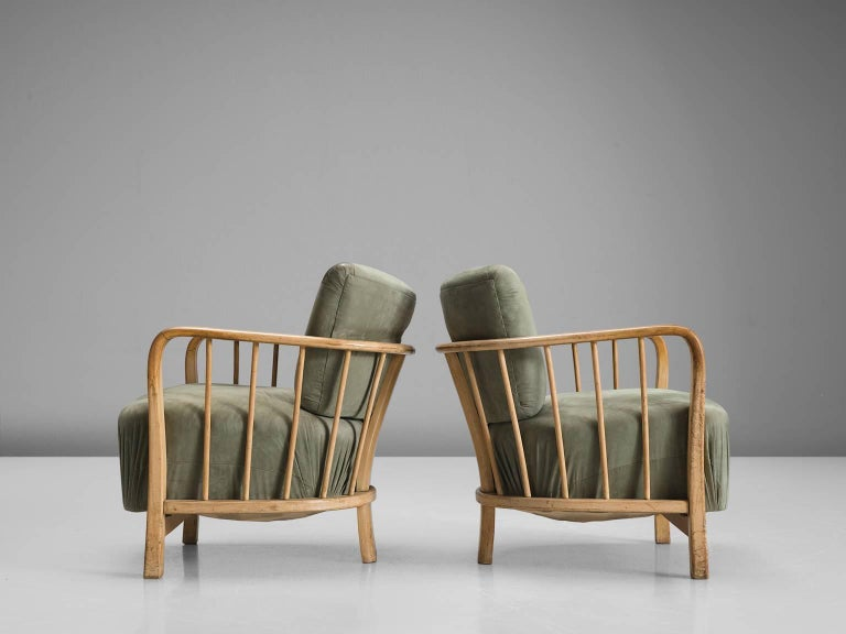 Mid-20th Century Midcentury Set of Two Sculptural Lounge Chairs For Sale
