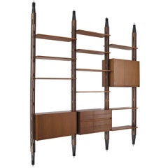 Franco Albini Modular Bookcase for Poggi in Rosewood