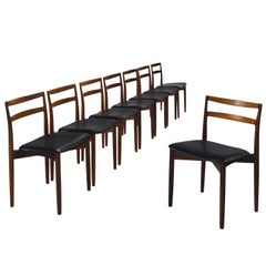 Harry Østergaard Set of Eight Rosewood Dining Chairs
