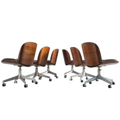 MIM Roma Rosewood Swivel Office Chairs