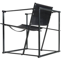 Black Leather Pastoe Armchair by Radboud Van Beekum