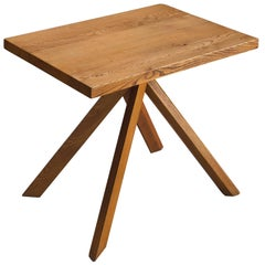 Pierre Chapo Elm Centre Table 'Rectangulaire Duo' T27A
