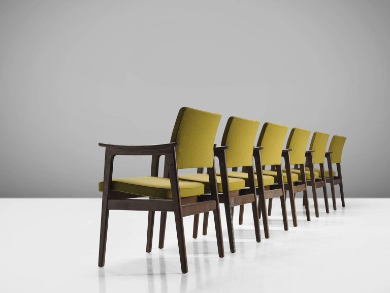 Set of 12 Oak Scandinavian Armchairs In Good Condition For Sale In Waalwijk, NL