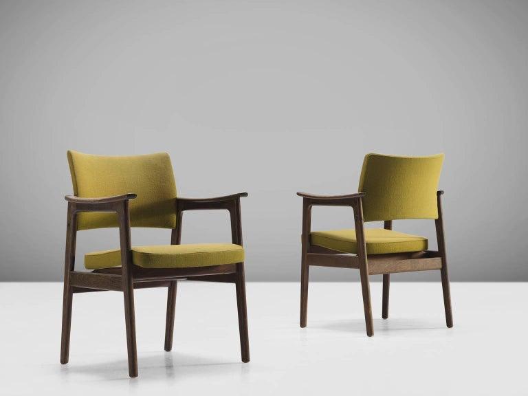 Mid-20th Century Set of 12 Oak Scandinavian Armchairs For Sale