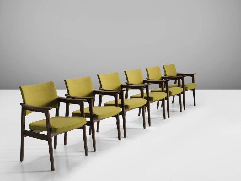Danish Set of 12 Oak Scandinavian Armchairs For Sale