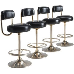 Set of Four Swedish Barstools by Johanson