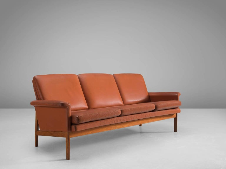 Cool Finn Juhl Jupiter Sofa In Cognac Leather And Teak For Sale Alphanode Cool Chair Designs And Ideas Alphanodeonline