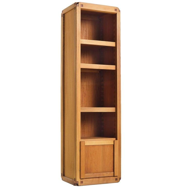 Pierre Chapo Bookcase B10 in Solid Elm
