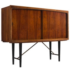 Danish Highboard with Rosewood and Brass