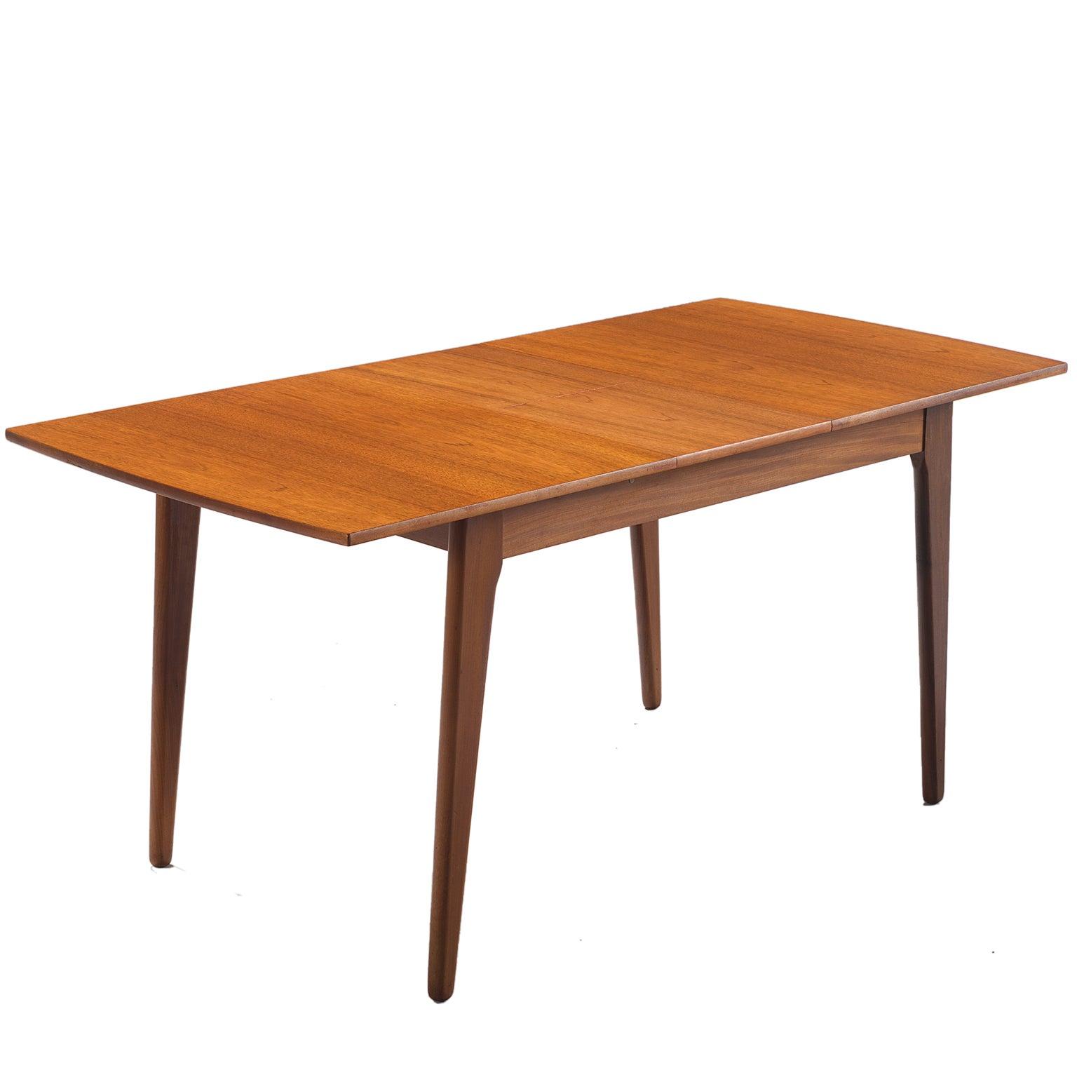 Extendable Teak Side Table, Denmark, 1950s