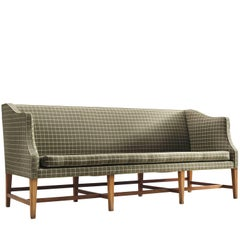 Danish Cabinetmaker Three-Seat Mahogany Sofa