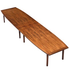 Scandinavian Rosewood Boat Shaped Table, circa 1960