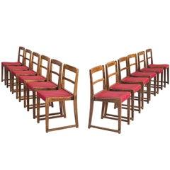 Set of Twelve Stackable Midcentury Chairs