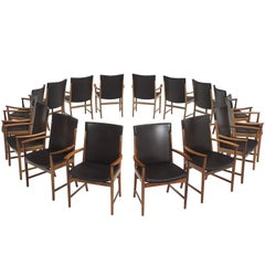 Kai Lynfeldt-Larsen Set of 16 Leather Armchairs