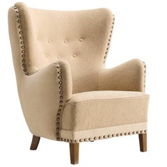 Danish Wingback Lounge Chair