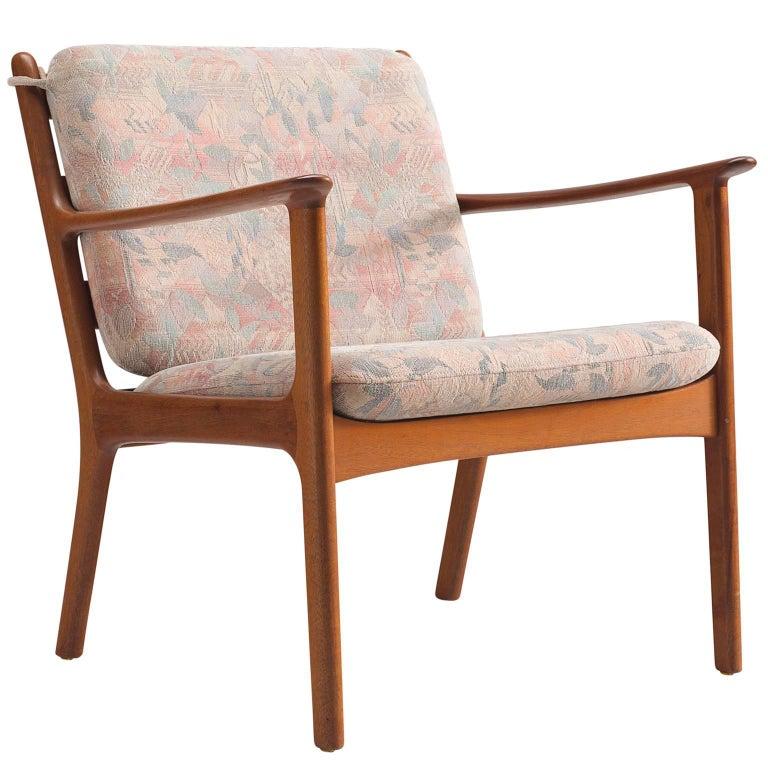 Kaj Winding Lounge Chair in Teak